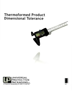 Thermoformed Product Dimensional Tolerance
